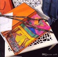 all'ingrosso moda multicolor alta qualità marca donne sciarpa di seta Sciarpa estate designer fiore lungo sciarpa etichetta 180x90cm scialle scialle di seta sciarpe