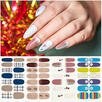 14tips / комплект полного покрытия ногти наклейки Обертывания Красочных ногти Табличка самоклеющихся наклейки украшение DIY для красоты