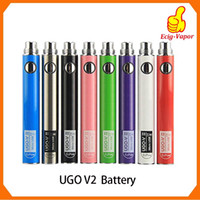 Batteria originale UGO V2 II 650 900 mAh EVOD ego 510 Micro vaporizzatori di carica USB e cigs O pen batterie Vape