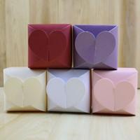 Pacchetto di regalo di carta del cioccolato della scatola di caramella del cuore per il compleanno Decorazione del favorito della festa di nozze