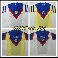RETRO G. Dos Santos 1987 1988 a casa in America gialla Maglia calcio R.SAMBUEZA P.AGUILAR 87 88 via Messico Calcistica Camisetas Classic Shirt