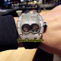 جديد RM053 مزدوج ويندوز الماس الطلب السويسري كوارتز حركة رجل ووتش الصلب حالة المطاط حزام جودة عالية الرياضة الساعات hello_watch