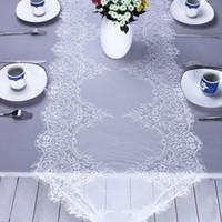 الدانتيل الأبيض الجدول الزهور عداء بوهو الزفاف سماط مأدبة حزب ديكور المنزل