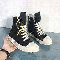 통기성 남성 캔버스 부츠 하이 탑 남성 패션 스니커즈 블랙 레이스 업 남성 신발 부츠 (9) # 25 / 20D50
