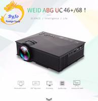 UNIC UC68 1800 lums ou UC46 + 1200 lums Mini LED Projector Air Sharing Home theater projetor projetor Full HD 1080p Projetor de Vídeo HDMI