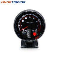 시프트 라이트 브라켓 자동 자동차 측정기를 장착와 타코미터 3.75inch 80mm의 레이싱 자동차 0-8000 RPM 탄소 섬유 RPM 게이지