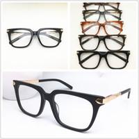 الرجال إطارات جديدة أعلى جودة العلامة التجارية تصميم بصري أزياء المرأة خمر خلات نظارات النظارات بلانك نظارات إطار نظارات نظارات 0129