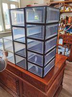 스토리지 박스 다채로운 걸쭉 플립 신발 투명 서랍 케이스 플라스틱 신발 상자 스택 상자 저장 상자 신발 저장 6 세트