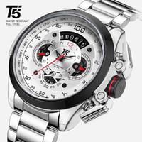 T5 lusso di marca Black Gold maschile orologio al quarzo militare orologio di sport uomini del cronografo impermeabile orologi da polso di sport del Mens T200113