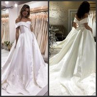 Glamorous Wedding Dresses Bridal Gowns Off Shoulder Short Sl...