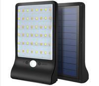 업그레이드 된 LED 태양 빛 초박형 무선 PIR 모션 센서 태양 램프 IP65 방수 야외 조명 조명 정원 벽