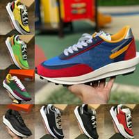 Nike x Sacai LDV Waffle Racer Running Shoes 2020 NUEVO LD Waffle LDV hombre para mujer para hombre de descuento al aire libre Triple Nylon Negro de zapatos