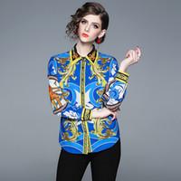 1c2ed6b61f3 2019 Леди Формальная рубашка с принтом Весна с длинным рукавом Офисная  футболка Мода приталенная блузка
