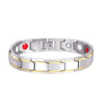 Bracelet Hématite Cuivre magnétique Hommes Bracelets Designer avec crochet fermoir à boucle thérapie Bangles Homme Cadeaux Bijoux