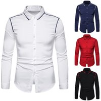 Brand White Men Shirt Long Sleeve Chemise Homme 2019 Fashion...
