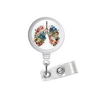 Blumen-Lung Kunst Abstract ID Badge Rollenhalter-Klipp-Halter Retractable RT Krankenschwestern Pulmonary