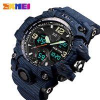 SKMEI Outdoor Sport Watch Men 5Bar Waterproof Military Camouflage Watches Dual Display Wristwatches relogio masculino 1155B
