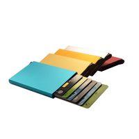 Aluminiumlegierung Kreditkartenetui Inhaber Protector Front Pocket Design Metallgehäuse für Männer und Frauen Slim Edelstahl Metall Brieftasche Geschenk