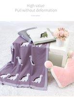 Babydecken Dinosaurier Strick Newborns Swaddle Wrap Umschläge für Kinderwagen Sofa Bettwäsche Krippe Quilts 100 * 80cm Kinder Baumwolle Abdeckungen geben Schiff frei