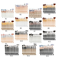 20 teile / satz Shell Make-Up Pinsel Set 15 farben Professionelle Lidschatten Eeybrow Eyeliner Lip Foundation Puder Concealer Pinsel Kit