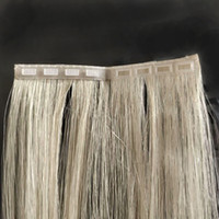 """2019 Nuovo prodotto Invisible Skin Weft Fissaggio nastro in estensione dei capelli facile da indossare senza nastro biadesivo Doppio clip clip capelli 14 """"-24"""""""