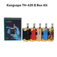Kangvape TH-420 II Starter Kit 650mAh TH420 2 Box Box Mod 0.5ml K1 Ceramic Thick Oil Cartridges Serbatoio 100% originale Dank Vapes