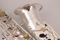 Высококачественные саксофон Alto Yanagisawa A-WO37 Silver Sax Alto Silvering профессиональный музыкальный инструмент с корпусом Бесплатная доставка