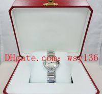 최고 품질 숙녀 쿼츠 시계 We902073 28mm 다이아몬드 다이얼 여성 패션 손목 겨울 상자 포함