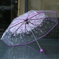 Transparent Clear Umbrella Cherry Blossom Mushroom Apollo Sa...