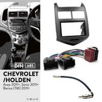 Kit UGAR 11-181 Fascia + harnais ISO + adaptateur d'antenne pour Chevrolet Aveo, Sonic 2011+ / Holden Barina (TM) 2011+