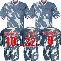 1994 الكلاسيكية بعيدا قميص الرجعية الولايات المتحدة الأمريكية كرة القدم الفانيلة Wegerle Lalas Ramos Balboa 94 America Compots Shirts