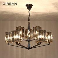 Illuminazione di cristallo postmoderna lampadario semplice lusso classico creativo Art Restaurant Led lampade Facture da letto Soggiorno