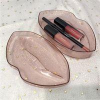 아름다움 큰 입 립 글로스 + 립 라이너 세트 메이크업 립스틱 제품과 함께 4 개 가지 색상 3PCS 세트 립스틱