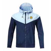 İskoçya Milli Takım Futbol fermuar rüzgarlık uzun kollu ceket ceket kış futbol rüzgarlık hoodie ceket spor erkek ceketler