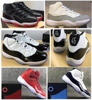 Real Carbon Fiber 11 Bred Metallic Silver Concord 45 Space J...