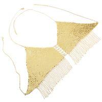New Fashion Gold Sequin Tassel Bra catena popolare spiaggia Piscina feste in Europa e America catena per il corpo all'ingrosso donne regalo gioielli