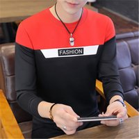 Man Long Sleeved T-shirt Fashion Letter Printing Sweatshirts Designer Round Neck Korean New Sweater Male Sports Casual Loose Sweater Hoodies