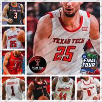 Özelleştirilmiş TTU TTU TEXAS TECH Basketbol 3 Jahmi'us Ramsey 23 Jarrett Culver 25 Davide Moretti Erkekler Gençlik Çocuk Siyah Kırmızı Gri 2020 Formalar 4XL