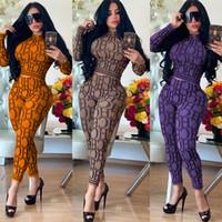 여자 디자이너 tracksuits 여자 편지 패턴 패션 캐주얼 인쇄 두 조각 세트 트렌드 섹시한 고품질 2020 겨울 새로운 스타일