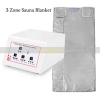 3 zone de contrôle de chauffage infrarouge sauna corps minceur couverture CE aproved Livraison gratuite