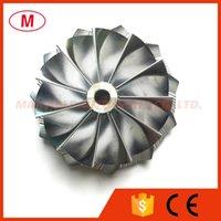 TD04HL 49189-x 20T 47.04 / 58.00mm 11 + 0 블레이드 역방향 터보 차저 카트리지 용 알루미늄 2618 / 밀링 휠