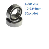 50PCS / الكثير 6900RS 6900-2RS 6900 RS واضعا الكرة 2RS 10 * 22 * 6MM الاخدود العميق اضعا الكرة 10x22x6mm