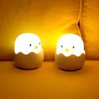 Ayarlanabilir Gece Lambası Şarj Edilebilir Yumurta Kabuk Chick Şekli Üst Kontrol Yatak Odası Hediye Bebek Çocuklar Için Çocuk CTEARTIVE Lamba LED Gece Işıkları
