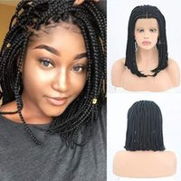Braided Wigs For African American Women Short Bob Micro Box ...
