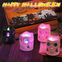 BRELONG Halloween Portable LED Night Light Skull Lamp Decorative Props Night Lights 1 pc