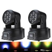 헤드를 이동 RGBW LED 무대 조명 9/14 채널 파티 디스코 쇼 100W AC 100-240V 소리 활성 크리스마스 장식 DMX-512 미니