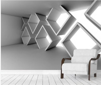 Wallpaper für Wände 3 D für Wohnzimmer Extended Space Dreidimensionale Gebäude Hintergrundwand
