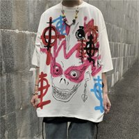 2020 new Korean style ins hand- painted graffiti printed shor...