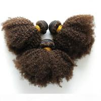 Лучшее качество цвета 4 девственные индийский кудрявый локон волос 3шт человек переплетения волос для черных женщин освобождают перевозку груза