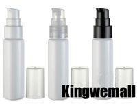 Die Kapazität 30ml geben Verschiffen 300pcs / lot Fabrik Großhandel weiße Lotion Pumpen-Flasche mit hohen Qualität, nachfüllbare Flasche LW-B-30